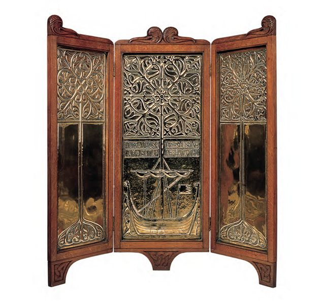 E15 Alexander Ritchie Firescreen 1900s Private collection